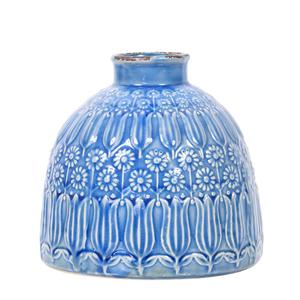 Ceramic Vase Narrow Blue - Large