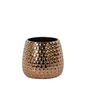 Ceramic Vase Small Gold