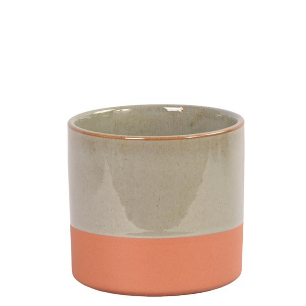 Ceramic Vase Small Two Tone Grey
