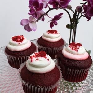 Midi Orchids Purple | Red Velvet Package | Buy Flowers in Dubai UAE | Gifts
