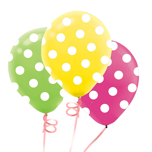 Dots Latex Balloon Bunch   Buy Balloons in Dubai UAE   Gifts