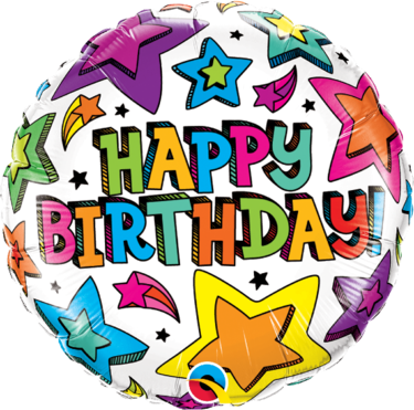Happy Birthday Multiple Stars Balloon   Buy Balloons in Dubai UAE   Gifts