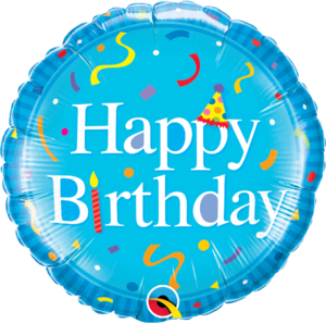 Happy Birthday Blue Round Foil Balloon   Buy Balloons in Dubai UAE   Gifts