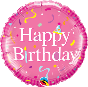 Happy Birthday Pink Round Foil Balloon   Buy Balloons in Dubai UAE   Gifts