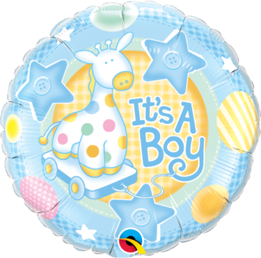 It's A Boy Soft Giraffe Round Foil Balloon | Buy Balloons in Dubai UAE | Gifts