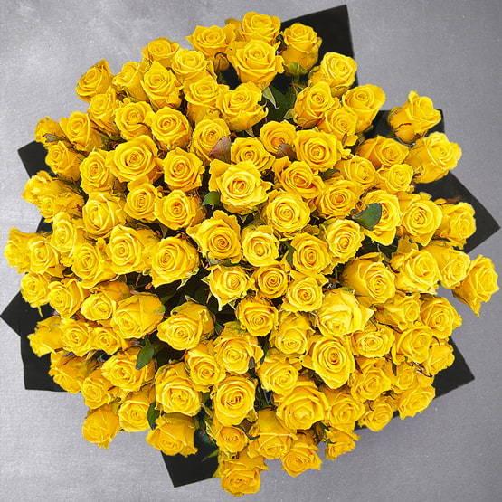 100 Yellow Roses by Rose Privee | Buy Flowers in Dubai UAE | Gifts