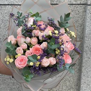 Pastel Pink Bouquet   Buy Flowers in Dubai UAE   Gifts