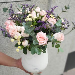 Pastel Pink Arrangement | Buy Flowers in Dubai UAE | Gifts