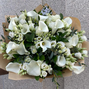 Calla Pure White Bouquet | Buy Flowers in Dubai UAE | Gifts