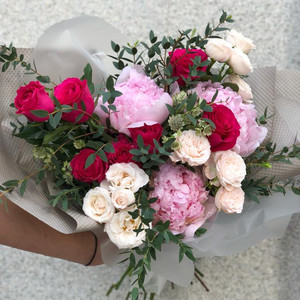 Vibrant Heart Bouquet | Buy Flowers in Dubai UAE | Flower Bouquet