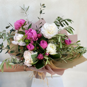 Peony Mix Bouquet| Buy Flowers in Dubai UAE | Flower Bouquet