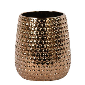 Ceramic Vase Large Bronze Gold