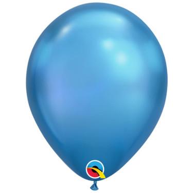 Chrome Blue Rubber Balloon   Buy Balloons in Dubai UAE   Gifts