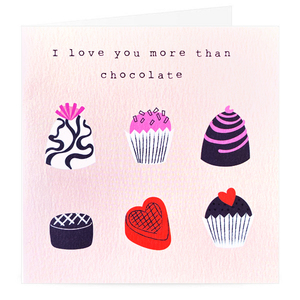 I Love you more than Chocolates Card | Buy Cards in Dubai UAE | Gifts