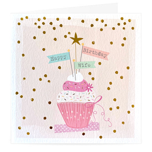 Happy Birthday Wife Cupcake Premium Card | Buy Birthday Cards in Dubai UAE | Gifts