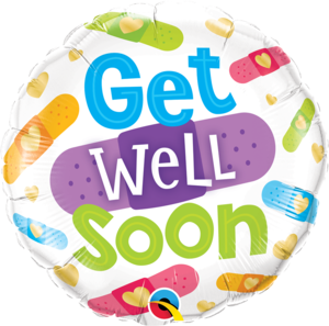 Get Well Soon Bandages Foil Balloon   Buy Balloons in Dubai UAE   Gifts