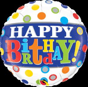 Birthday Band & Dots Foil Balloon   Buy Balloons in Dubai UAE   Gifts