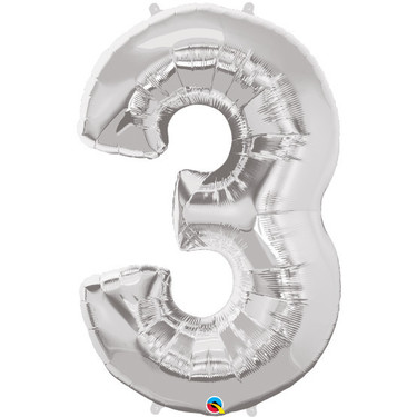 Super Shape Number 3 Foil Balloon | Buy Balloons in Dubai UAE | Gifts