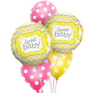 Sweet Baby Polka Balloon Bouquet | Buy Balloons in Dubai UAE | Gifts
