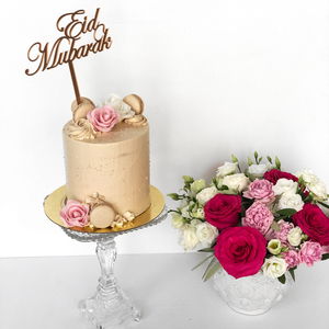 Eid Pure Happiness with Cake   Buy Flowers in Dubai UAE   Flower Bouquet