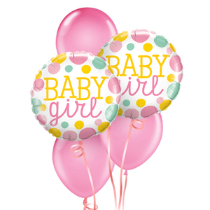 Welcome Baby Girl Balloon Bouquet | Buy Balloons in Dubai UAE | Gifts